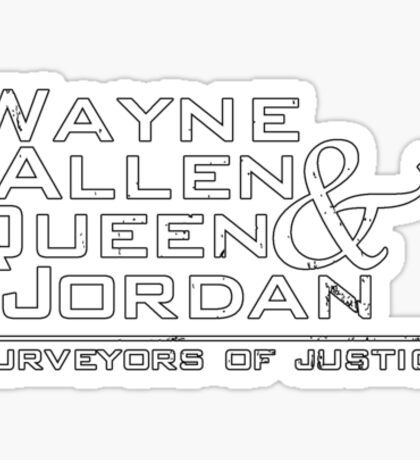 Purveyors of Justice Sticker