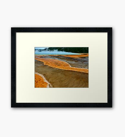 Color from the earth - Grand Prismatic Spring in Yellowstone National Park Framed Print