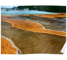 Color from the earth - Grand Prismatic Spring in Yellowstone National Park Poster