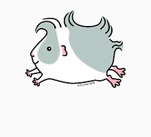 Leaping Guinea-pig ... Gray and White  Womens Fitted T-Shirt