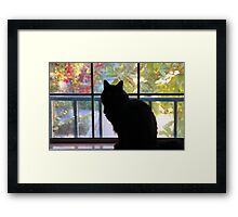 Pooh Bear In The Window Framed Print