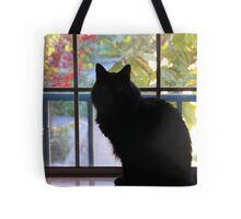 Pooh Bear In The Window Tote Bag