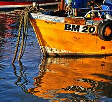 Slippery Dick Reflections ~ Lyme Regis by Susie Peek