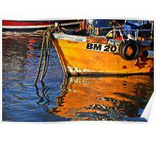 Slippery Dick Reflections ~ Lyme Regis Poster