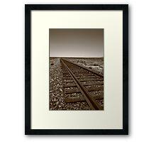 Railroad Tracks, Sepia Framed Print