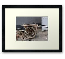 Rustic Chinese Wheelbarrow Framed Print