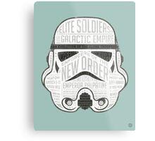 Stormtrooper trivia print infographic design Metal Print