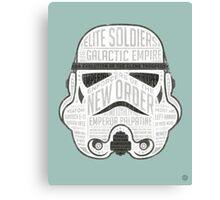 Stormtrooper trivia print infographic design Canvas Print
