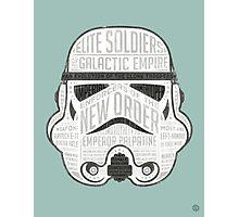 Stormtrooper trivia print infographic design Photographic Print