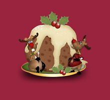 Giant Christmas Pudding And Reindeer Holiday Jumper - Tee Long Sleeve T-Shirt