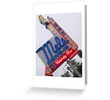 All American Diner Girl Greeting Card