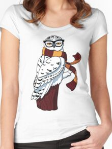 Hipster Owl Women's Fitted Scoop T-Shirt