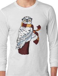 Hipster Owl Long Sleeve T-Shirt