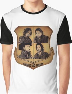 The Musketeer Shield - OMNUS AD UNUM Graphic T-Shirt