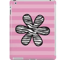 Flower, Animal Print, Zebra Stripes - Black White iPad Case/Skin