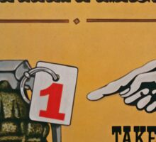 Take A Number Sticker