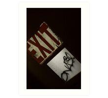 Exit Signature  Art Print