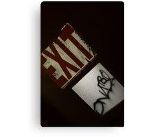 Exit Signature  Canvas Print