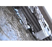 Dripping Icicle Photographic Print