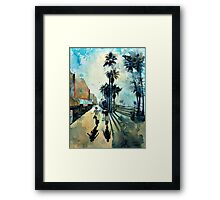 Early Morning on the Venice Boardwalk Framed Print