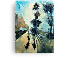 Early Morning on the Venice Boardwalk Canvas Print