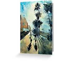 Early Morning on the Venice Boardwalk Greeting Card