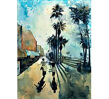 Early Morning on the Venice Boardwalk Photographic Print