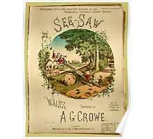 The See-Saw Waltz Lithograph Poster