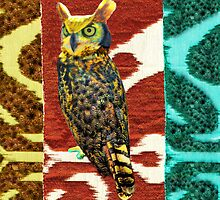 Archimedes the Great Horned Owl by Trish Peach