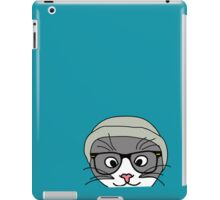 Hipster cat iPad Case/Skin
