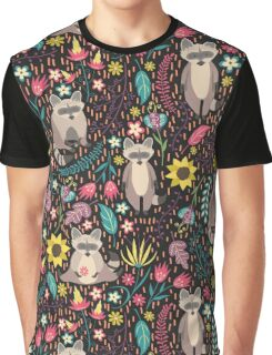 Raccoons bright pattern Graphic T-Shirt