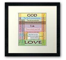 Ten Commandments Framed Print
