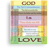 Ten Commandments Canvas Print