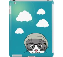 Hipster cat and clouds iPad Case/Skin