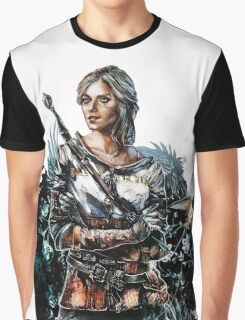 Ciri 2 - The Witcher Wild Hunt  Graphic T-Shirt