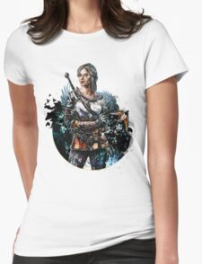 Ciri 2 - The Witcher Wild Hunt  Womens Fitted T-Shirt