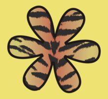 Flower, Animal Print, Tiger Stripes - Black Orange  Kids Clothes