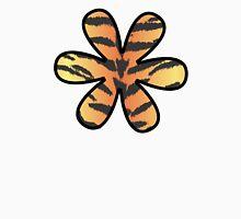 Flower, Animal Print, Tiger Stripes - Black Orange  T-Shirt