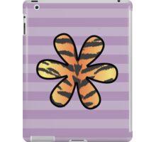 Flower, Animal Print, Tiger Stripes - Black Orange  iPad Case/Skin