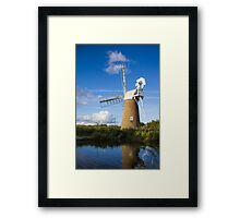 Windmill on Norfolk Broads Framed Print