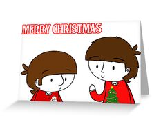 Ringo and George Card Greeting Card