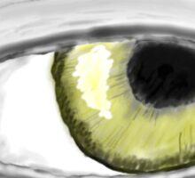 Eye of gold Sticker