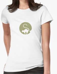 OLIVE GAS CAT Womens Fitted T-Shirt
