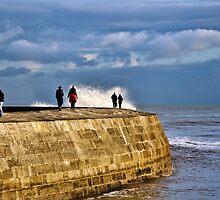 Stormy November ~ Lyme Regis by Susie Peek