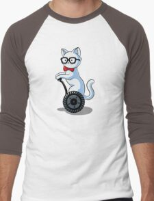 White and Nerdy Men's Baseball ¾ T-Shirt