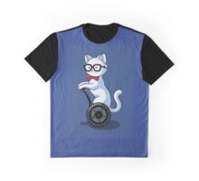 White and Nerdy Graphic T-Shirt