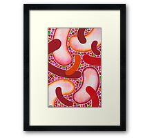 RED FANTASY FORMS Framed Print