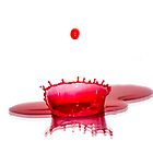 Red Paint Droplets. by ChrisChallenger