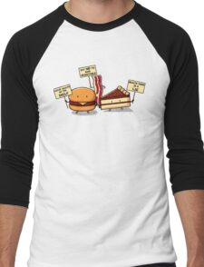 Occupy Stomach Men's Baseball ¾ T-Shirt