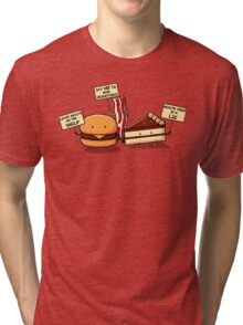 Occupy Stomach Tri-blend T-Shirt